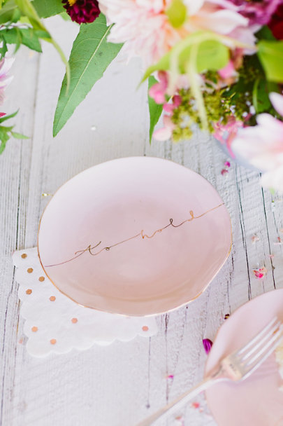 Rosegold Rose Gold Dot Napkins (16) | BHLDN