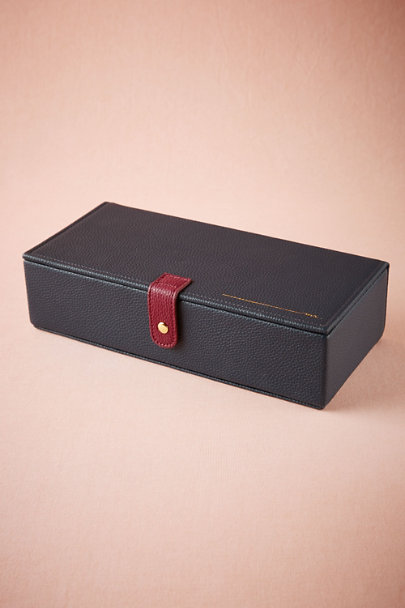 Navy Groom's Watch Box | BHLDN
