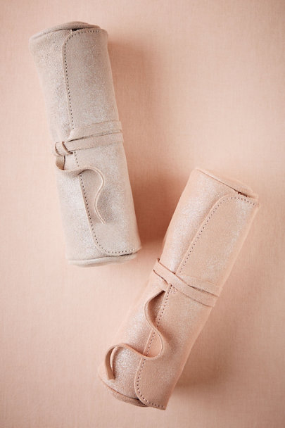 Rose Metallic Jewelry Roll | BHLDN