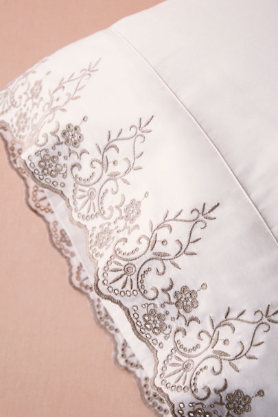 White Mr. & Mrs. Pillowcases (2) | BHLDN