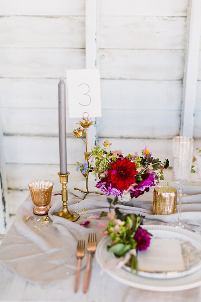 Bronze Secret Garden Number Holder | BHLDN