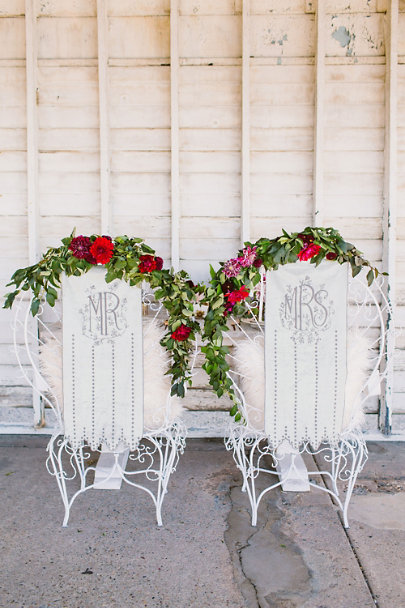 Grey Velvet Chair Banners (2) | BHLDN