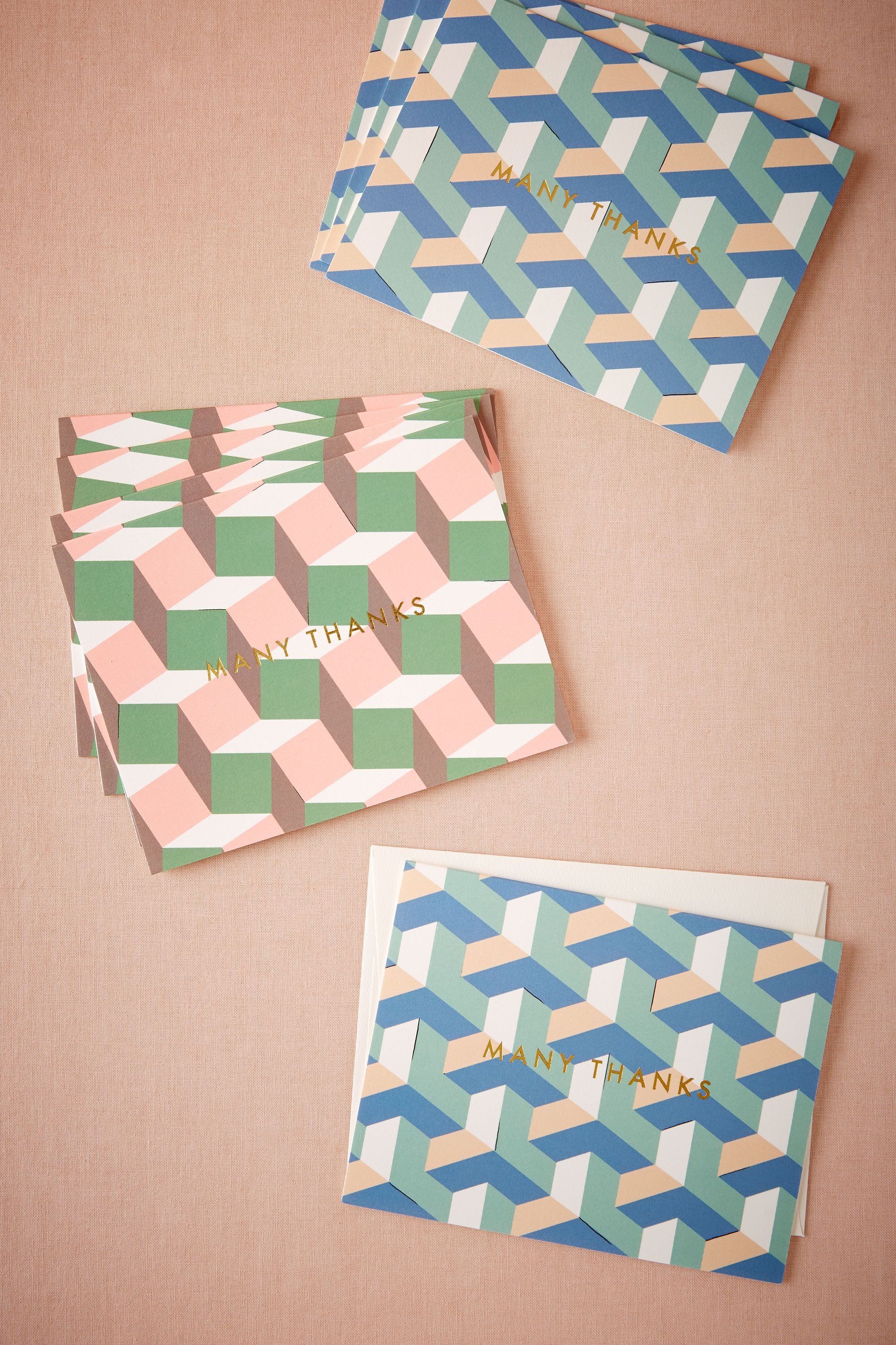 Geometric Thank You Cards (8)