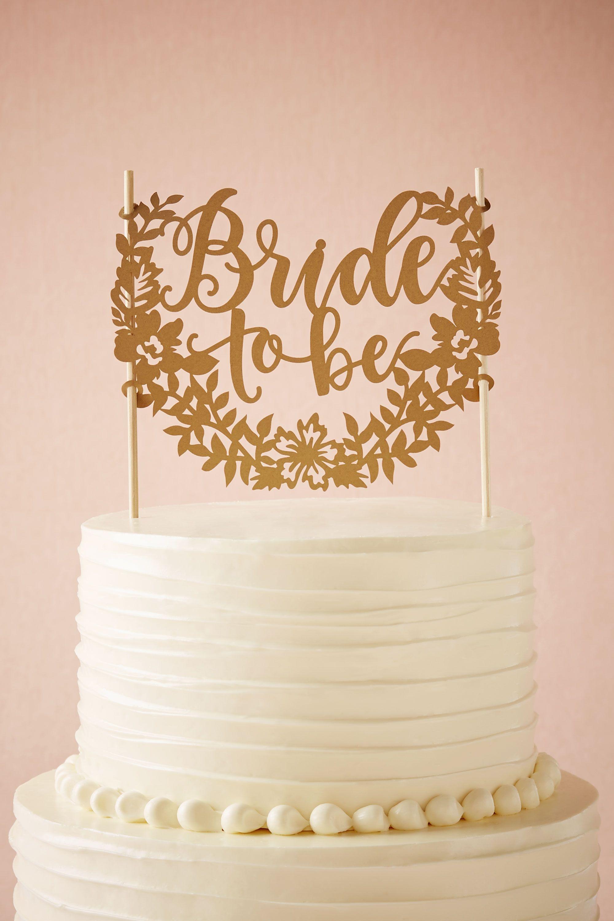 Bride to Be Cake Topper in Dcor BHLDN