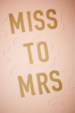 Miss to Mrs. Banner