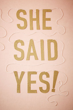 She Said Yes! Banner