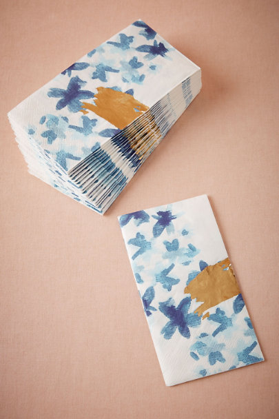 Blue Brushed Bouquet Napkins (20) | BHLDN