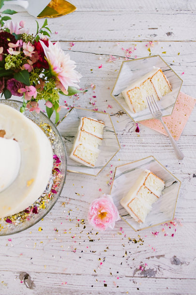 Marble Hexagonal Paper Plates (8) | BHLDN