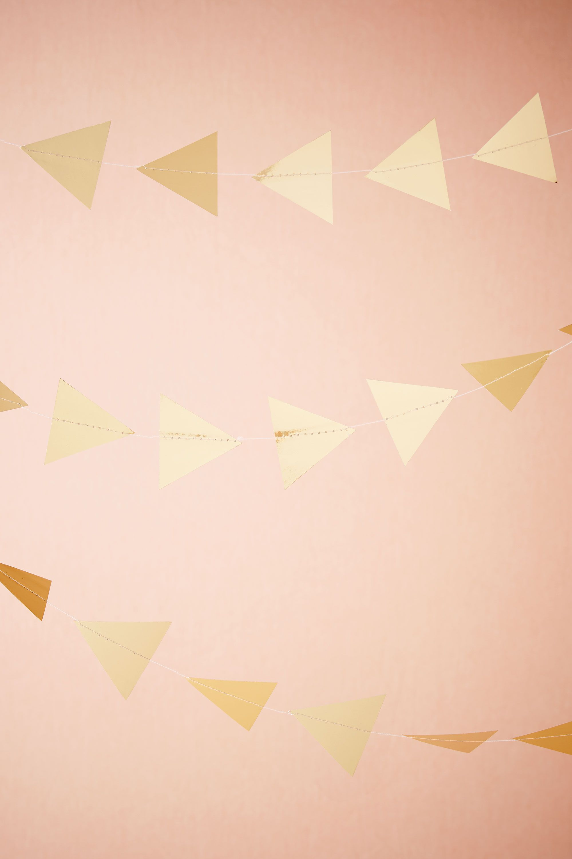 Gilded Triangle Garland