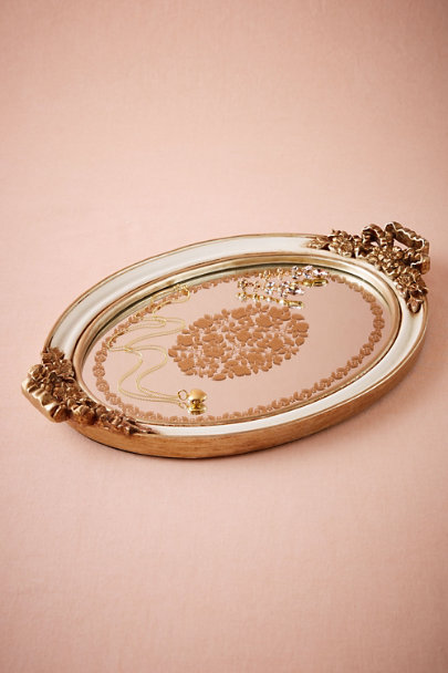 Baroque mirror tray in d cor gifts bhldn for Baroque resin mirror