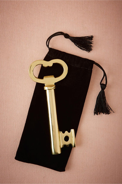 Gold Passkey Bottle Opener | BHLDN