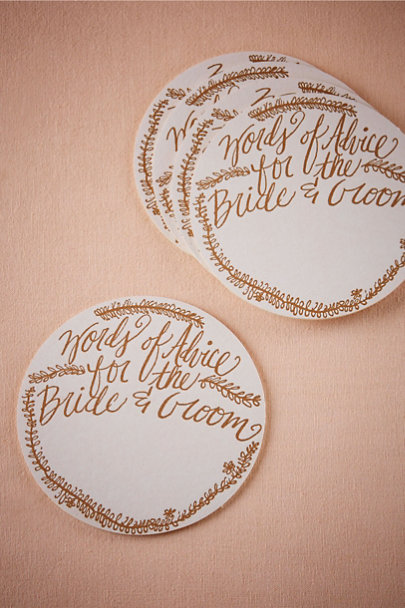 White Words of Advice Coasters (10) | BHLDN
