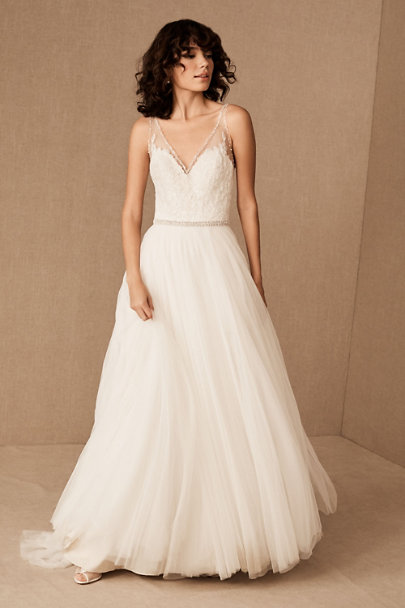 Watters Ivory/Champagne Cassia Gown | BHLDN