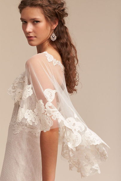 Watters Ivory Adorlee Cape | BHLDN