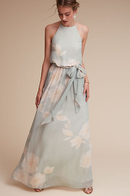 Long Bridesmaid Dresses  Chiffon Styles  BHLDN