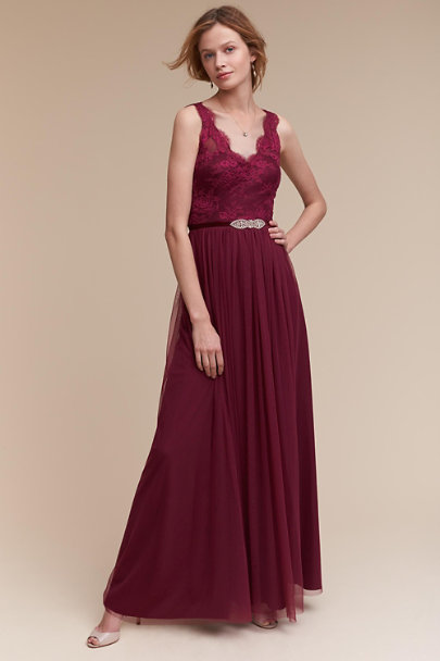 Hitherto Black Cherry Samantha Dress | BHLDN