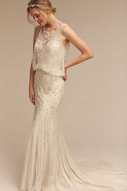 Beaded Wedding Dresses - Crystal Wedding Dress - BHLDN