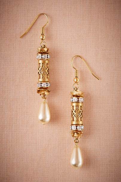 Debra Moreland Gold Pavrina Filigree Earrings | BHLDN