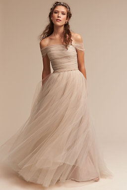 Wedding Dresses with Sleeves - Long- Lace- Cap Sleeve- BHLDN