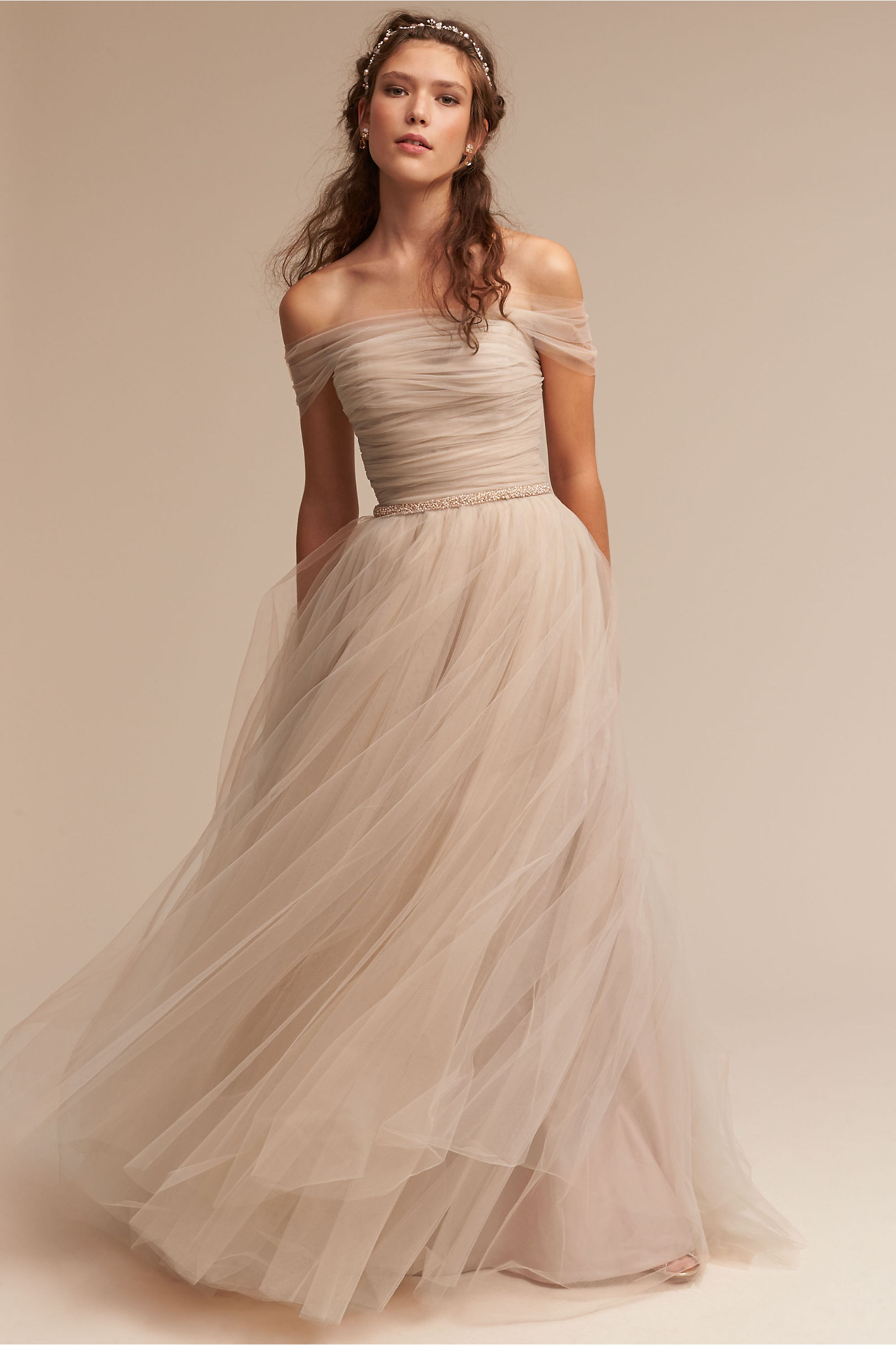ramona gown pics of wedding dresses Champagne Ramona Gown BHLDN