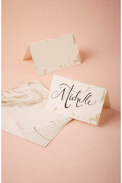 Gold Gilt Marble Name Cards (12) | BHLDN