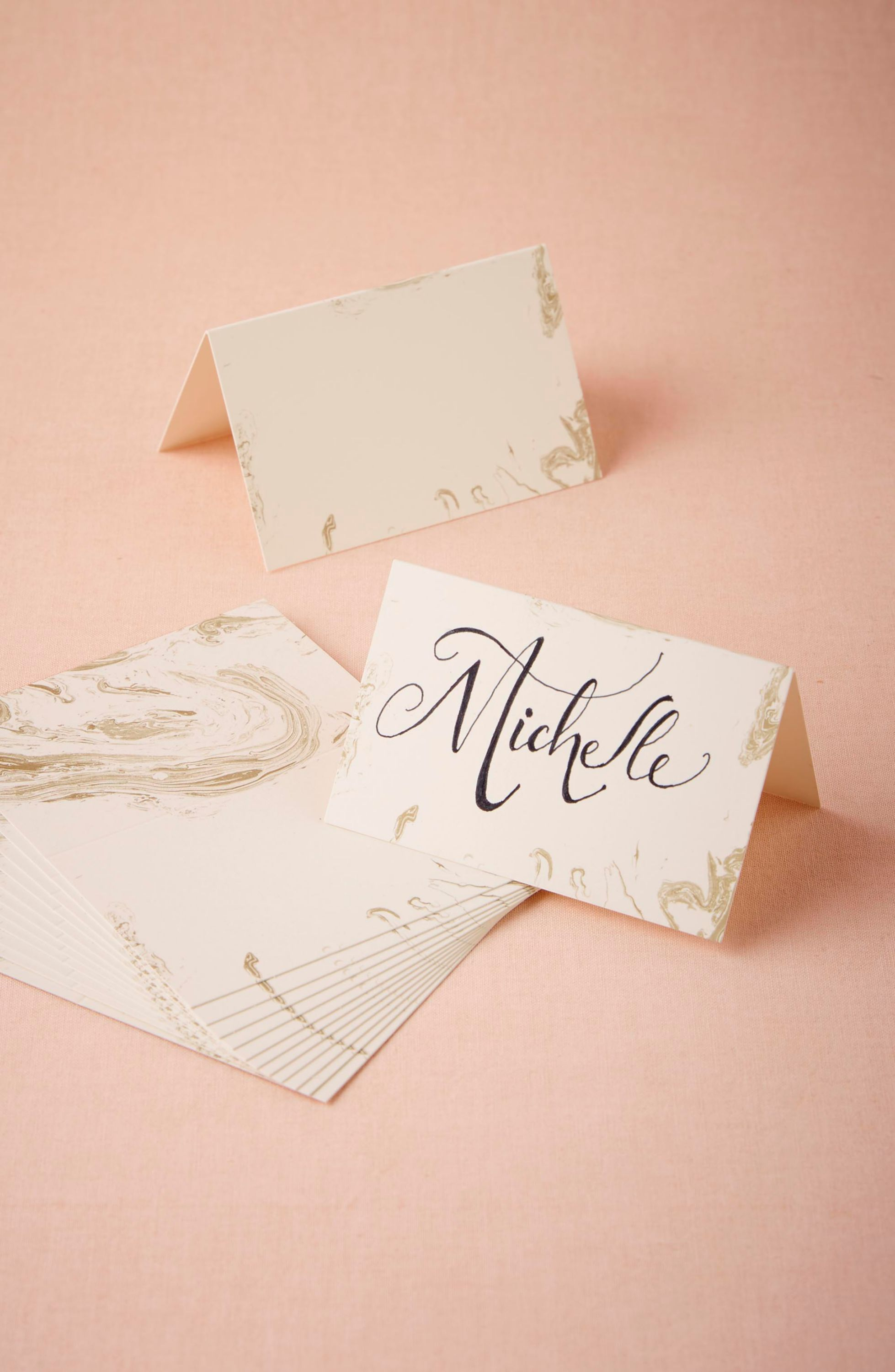 Gilt Marble Name Cards (12)