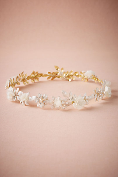 Gold Gardenia Halo | BHLDN