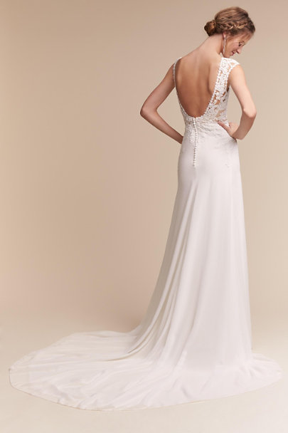 Pronovias Ivory Melanie Gown | BHLDN