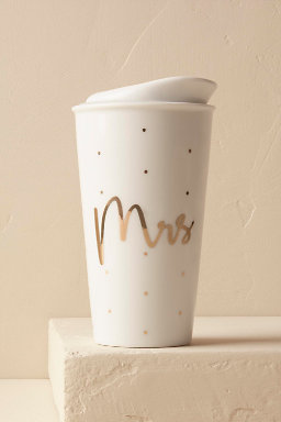 Gold-Scripted Travel Mug