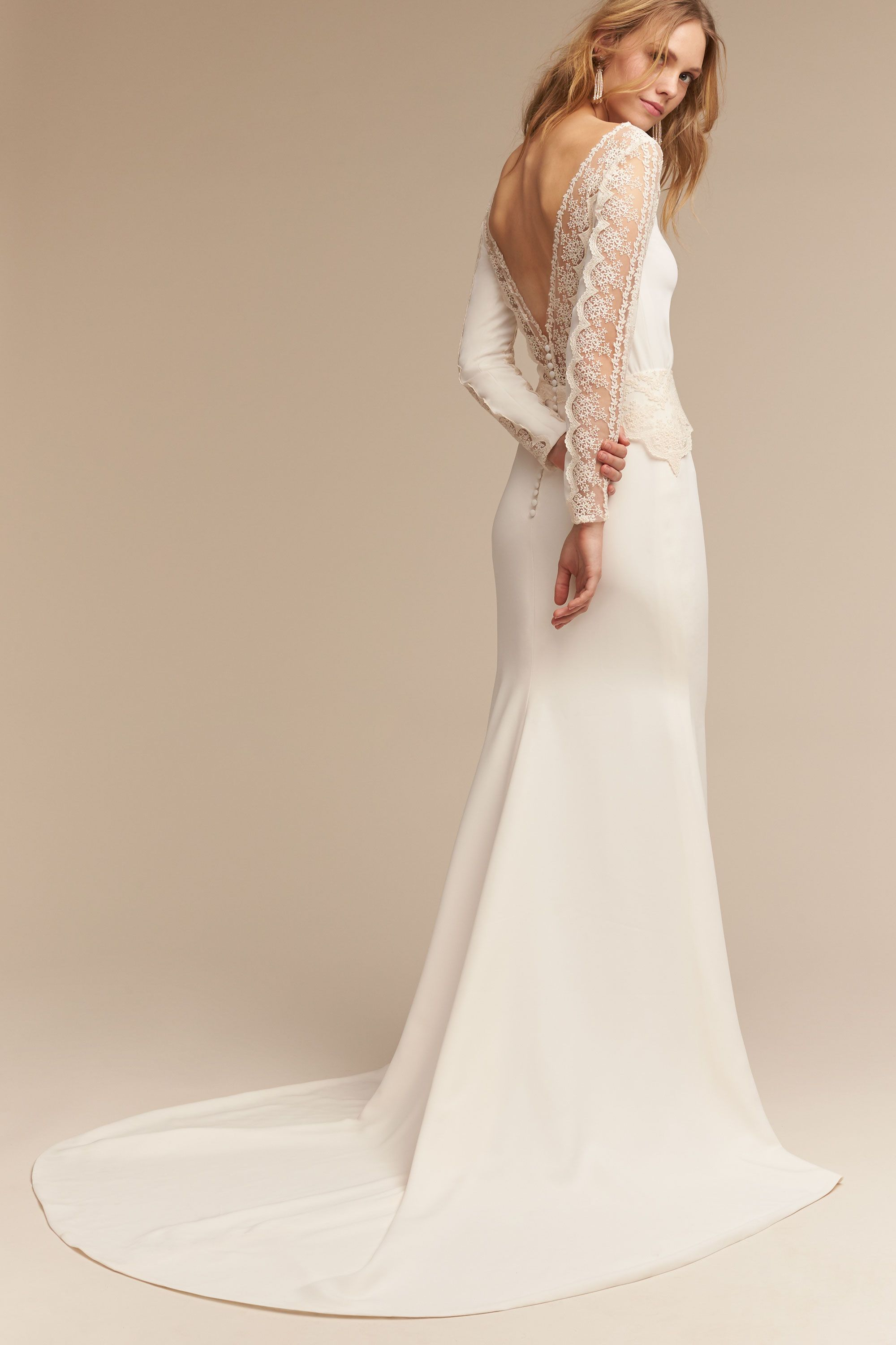 Wedding Wedding Gowns With Sleeves wedding dresses with sleeves long lace cap sleeve bhldn sol gown gown