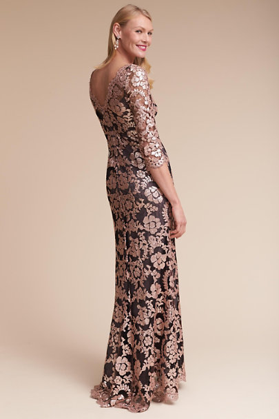 Tadashi Shoji Antique Pink/Black Yvonne Dress | BHLDN