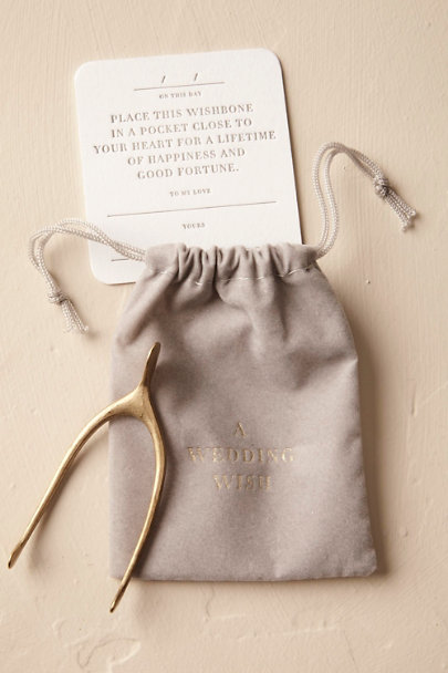 Gold Groom's Wishbone | BHLDN