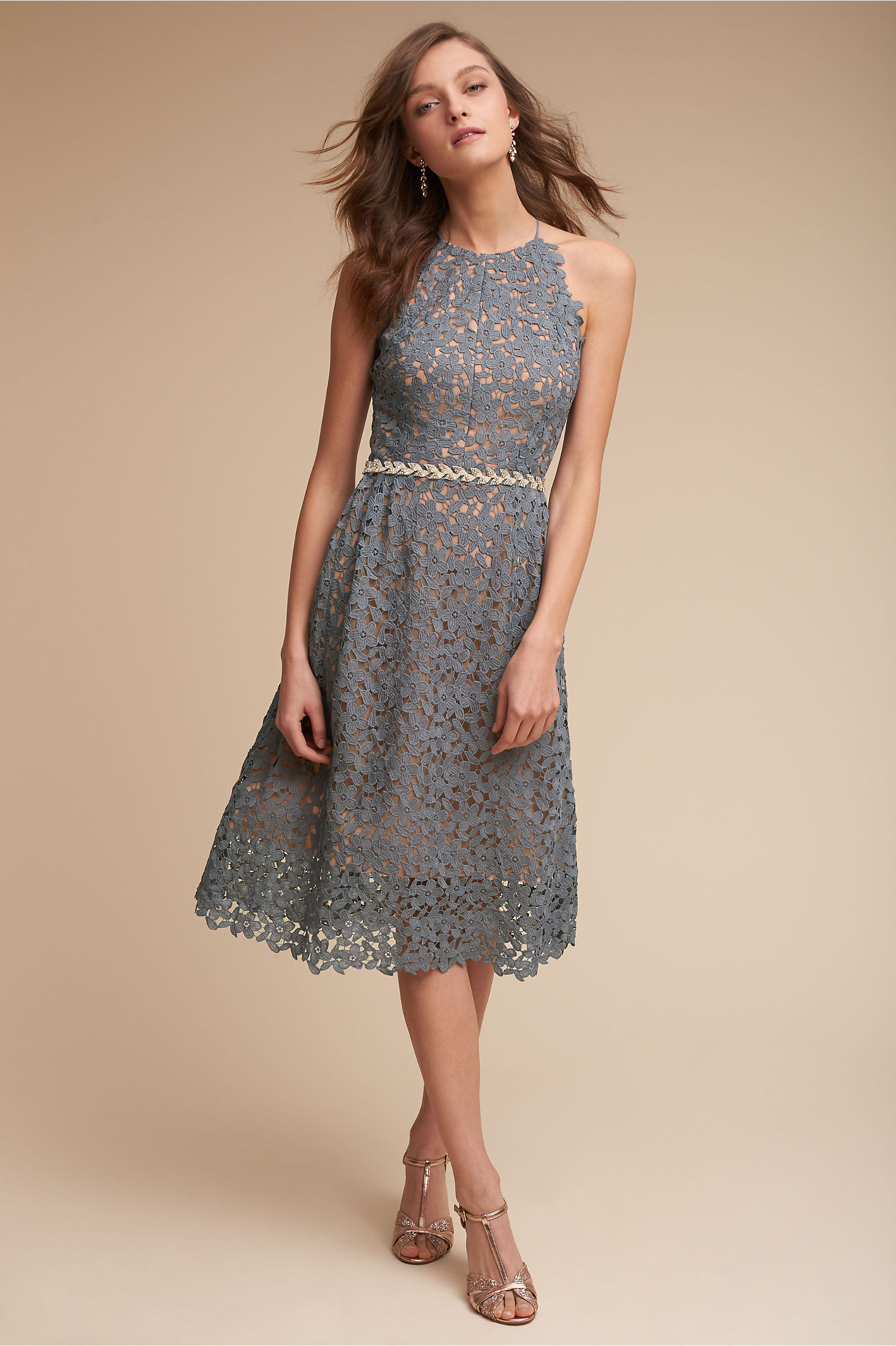 Short Bridesmaid Dresses  Tea Length & Chiffon  BHLDN