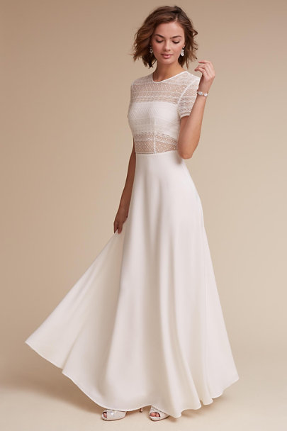 Sau White Benson Dress | BHLDN