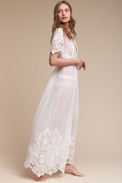 Olivia embroidered robe in bride bhldn for Bra for wedding dress shopping