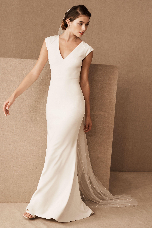 Wedding Sheath Wedding Dresses sheath column wedding dresses bhldn sawyer gown gown