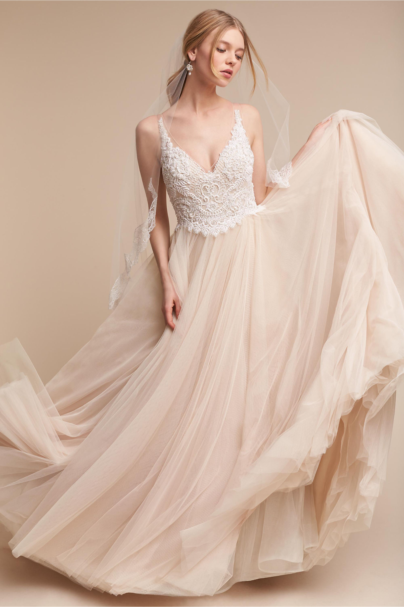 Wedding Dresses  Vintage &amp Simple Wedding Gowns  BHLDN