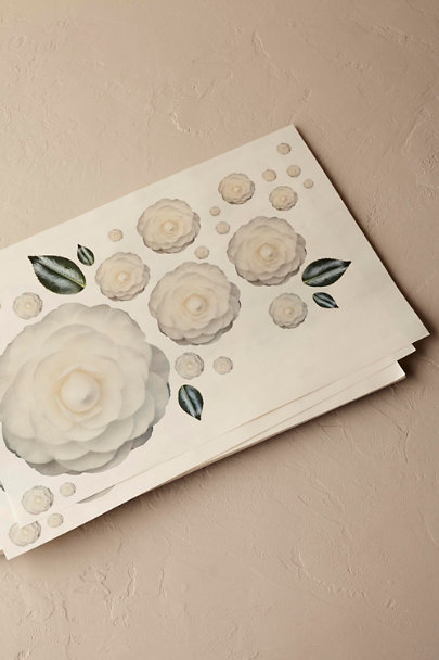 White Bold Blooms Placemats (25) | BHLDN