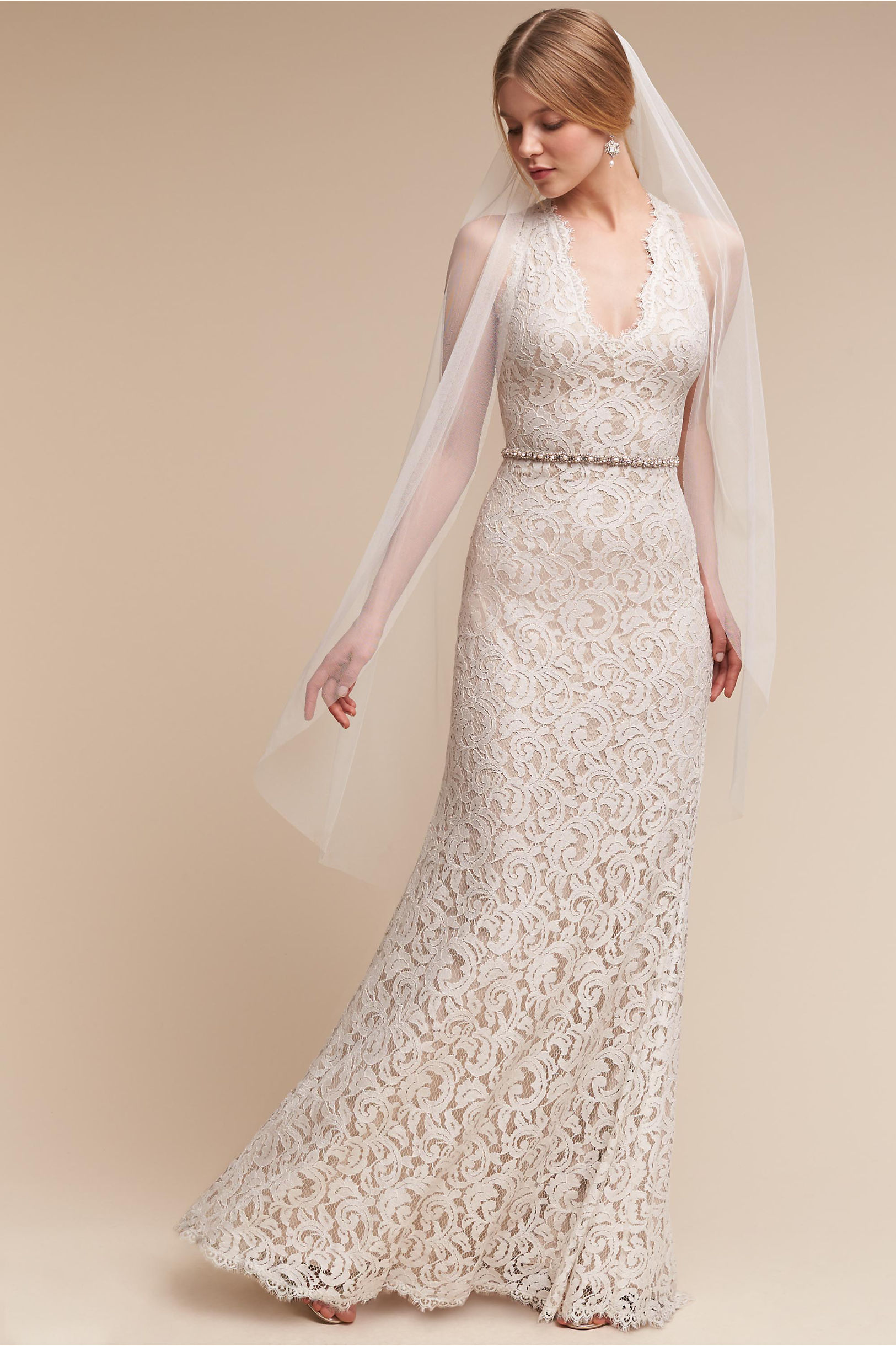 Lace Wedding Dresses  Vintage Lace Gowns  BHLDN