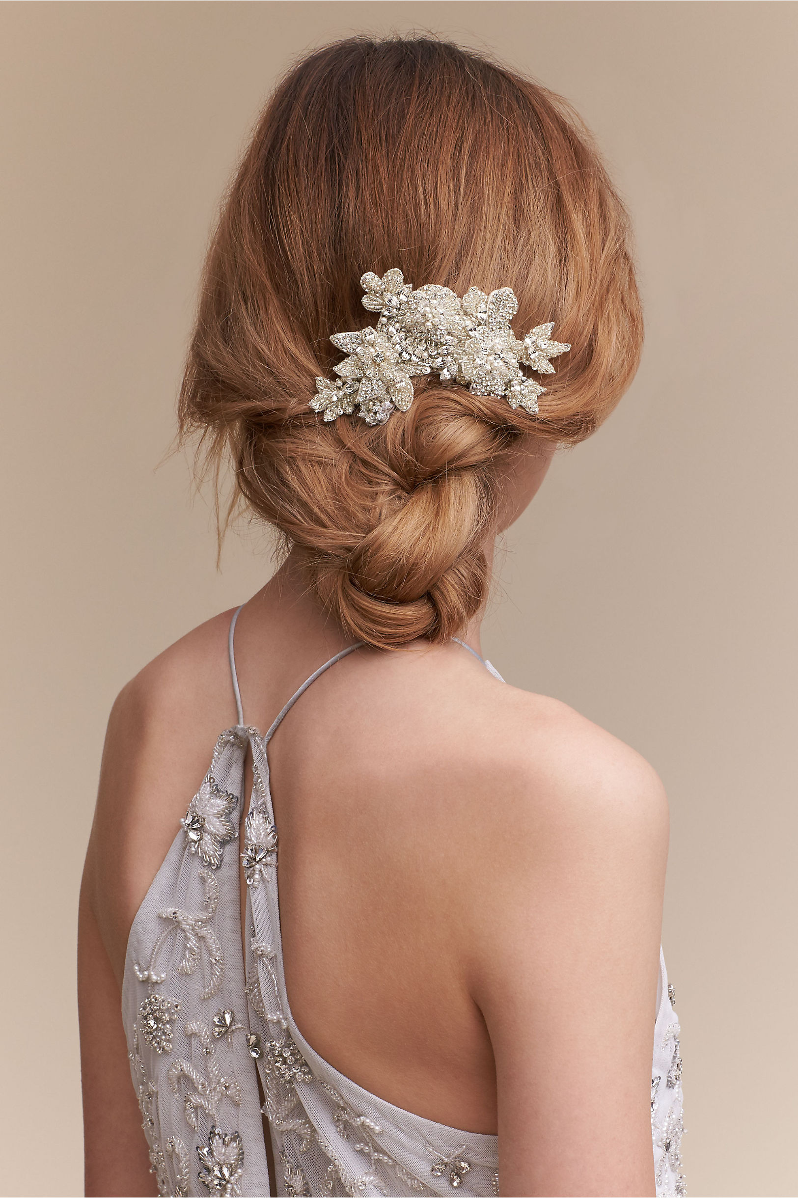 Bridal hair accessories for long hair - Shimmering Blooms Comb