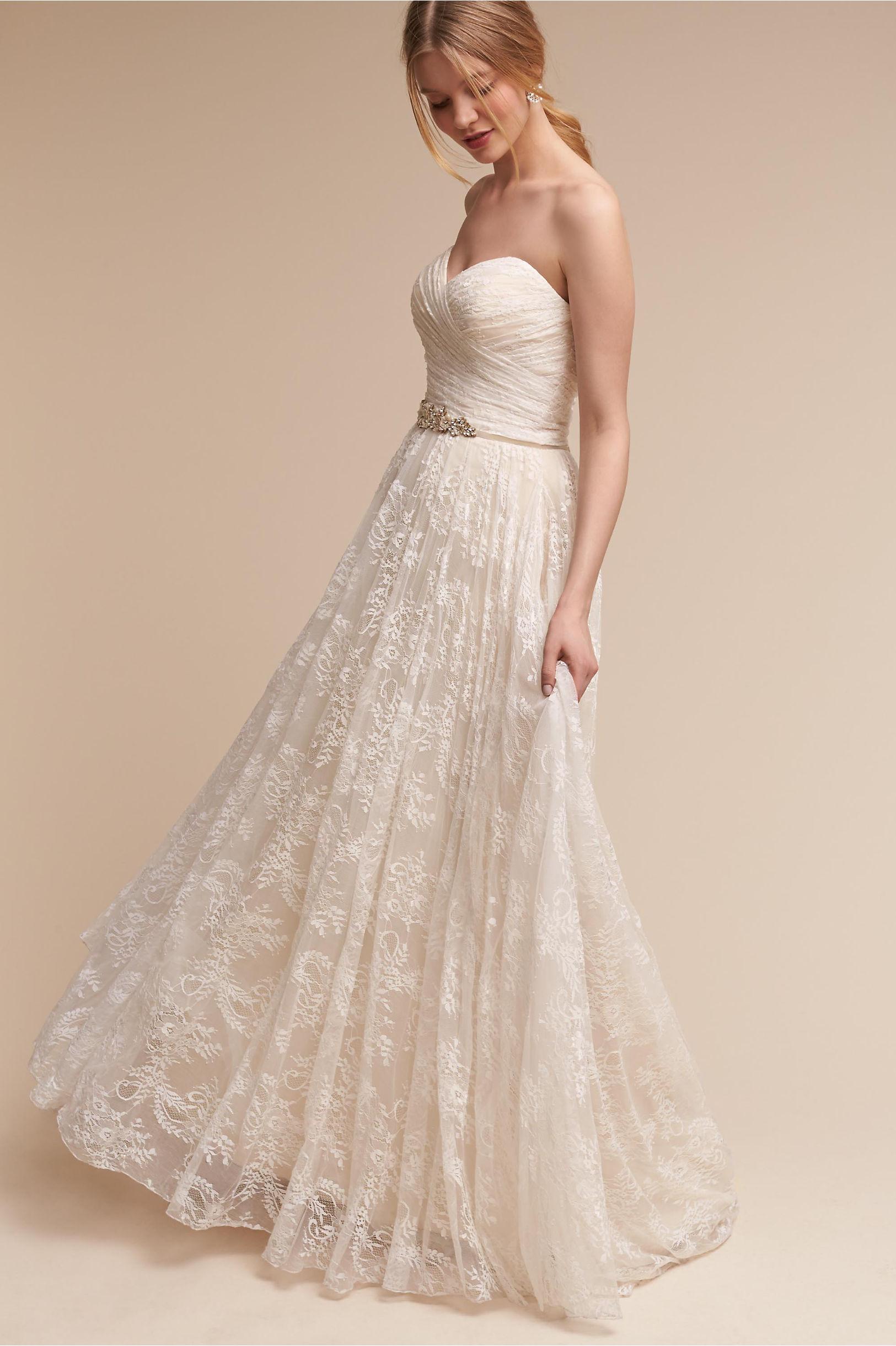 Wedding Dresses  Vintage &amp Simple Wedding Gowns  BHLDN
