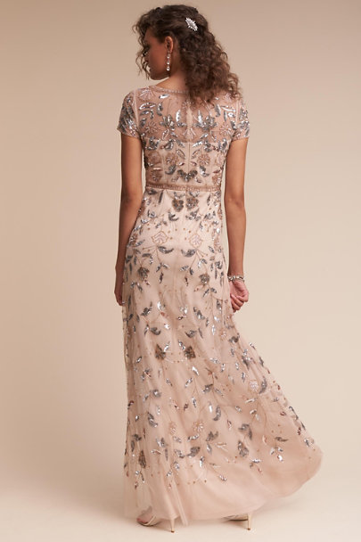 Adrianna Papell Champagne Cecelia Dress | BHLDN