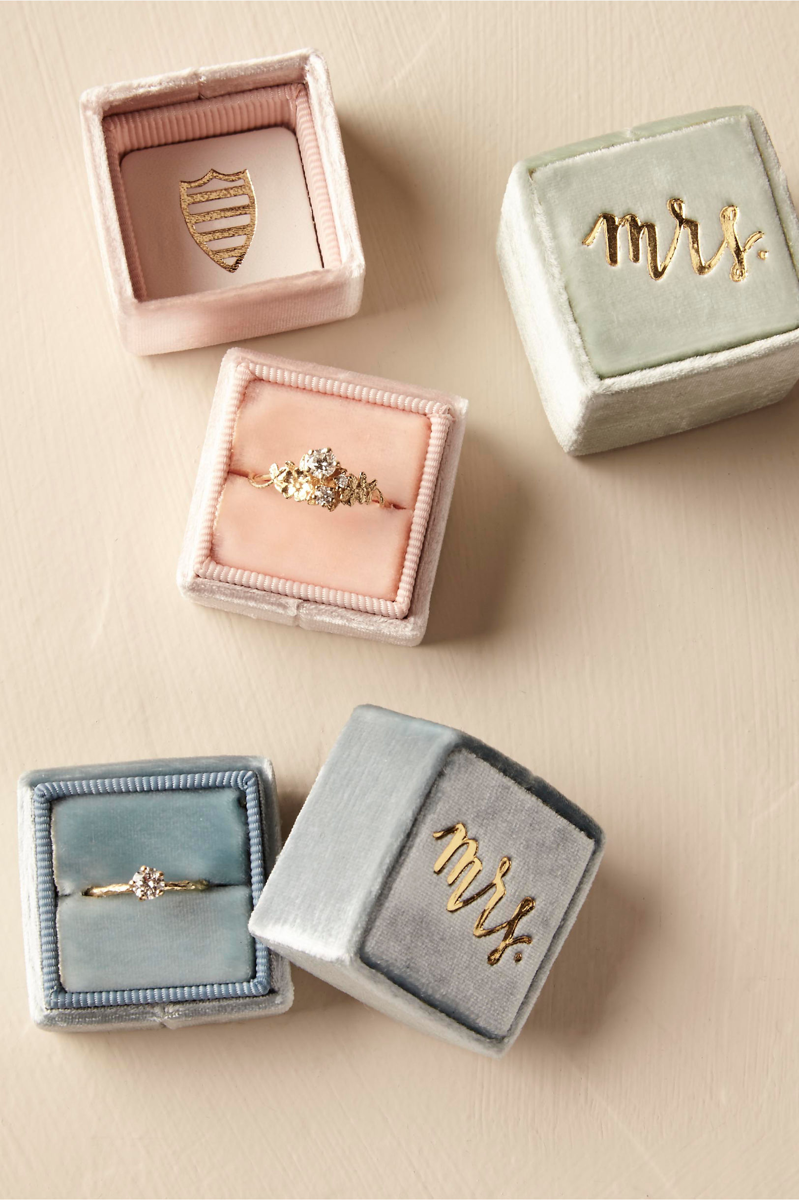 shop the bride bridal jewelry rings unique wedding rings The Mrs Box