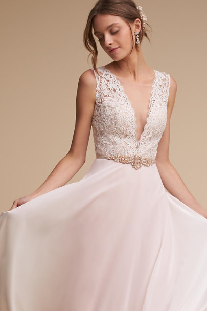 A.B. Ellie Blush Blushing Blooms Sash | BHLDN