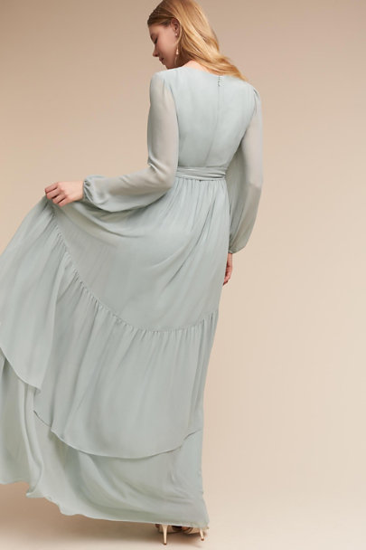 Donna Morgan Morning Mist Quince Dress | BHLDN