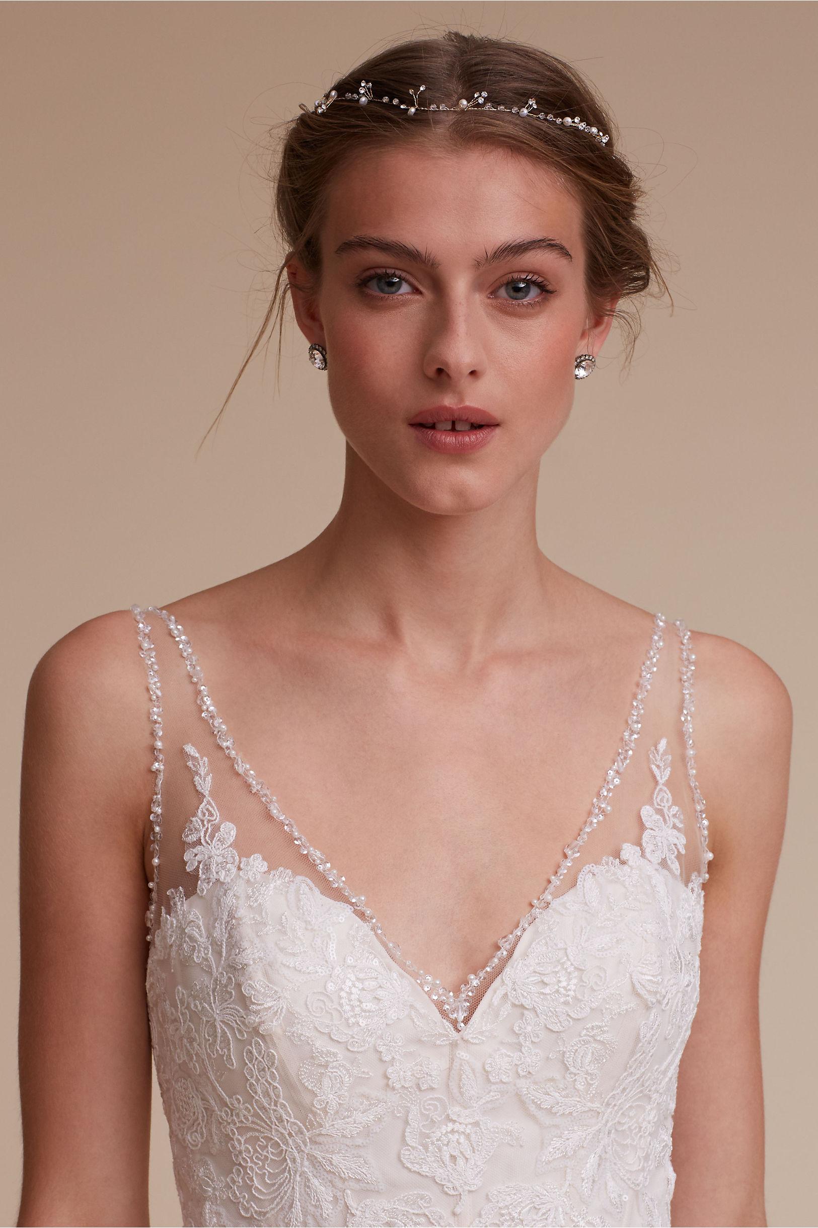 shop the bride veils headpieces wedding headpiece Twinkling Pearl Vine
