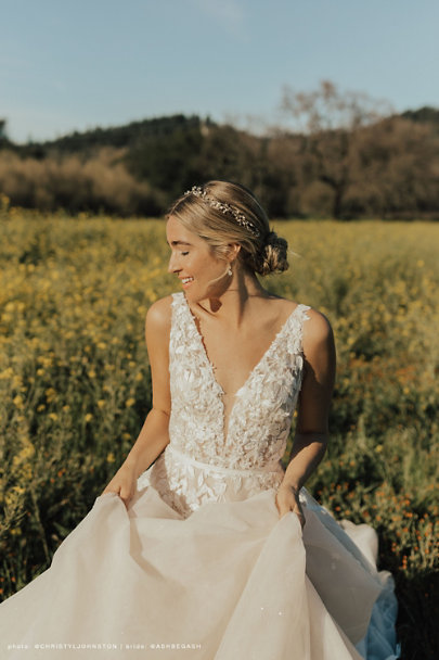 Twigs & Honey Gold Twinkling Pearl Vine | BHLDN