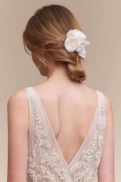 Ivory Trois Rose Hairpin | BHLDN