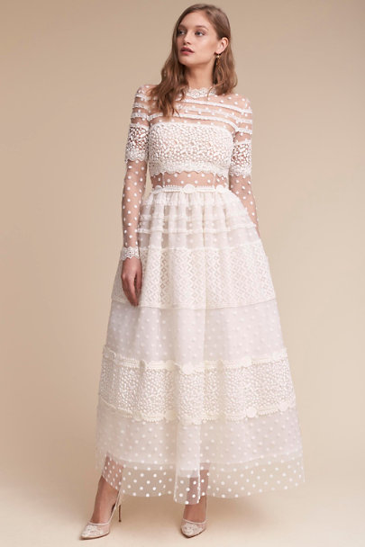 Costarellos Ivory Keaton Gown | BHLDN