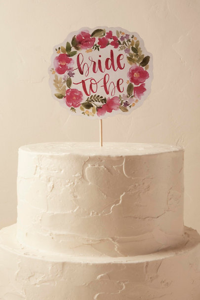 Alexis Mattox Pink Blushing Roses Cake Topper | BHLDN